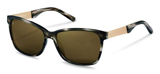 Rodenstock-Zonnebril-R3302-dark grey structured, light gold
